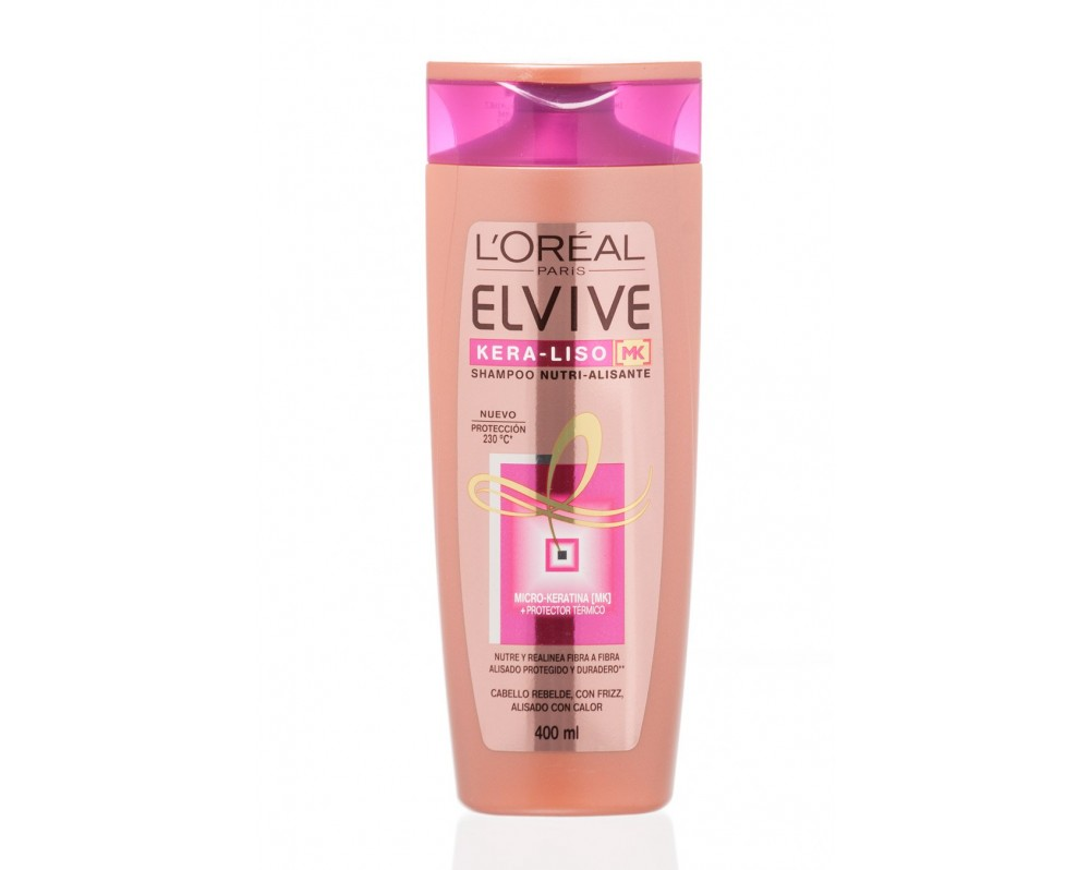 Shampoo Elvive kera liso 230 400 ml